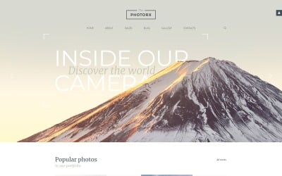 The Photorx - Photo Studio Clean Functional Joomla Template