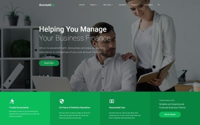 Accountex - Accounting Clean Multipage HTML Website Template