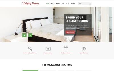 Будинки для відпочинку - Багатосторінкова нерухомість, чистий шаблон Joomla