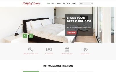 Holiday Homes - Многостраничный чистый шаблон Joomla для недвижимости