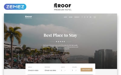 Roof - Hotel Multipage Clean Bootstrap HTML5 Website Template