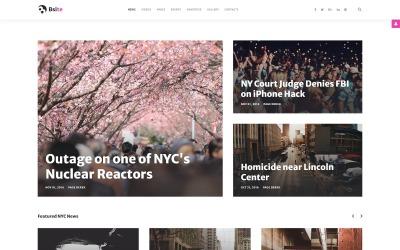 Bsite - Hírportál érzékeny modern Joomla sablon