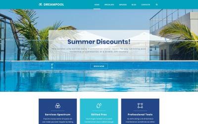 Dream Pool - Tema WordPress para limpeza e conserto de piscinas