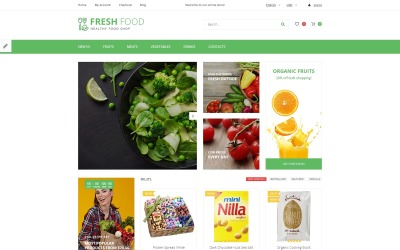 Fresh Food - Healthy & Organic Food Store OpenCart-sjabloon