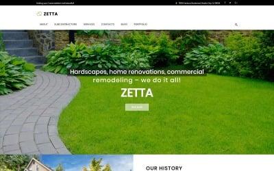 Zetta - Exterieur, Garten & Landschaft WordPress Theme