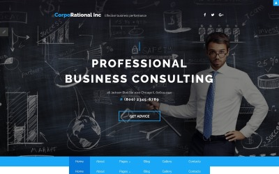 CorpoRational Inc - Business Consulting Joomla Template