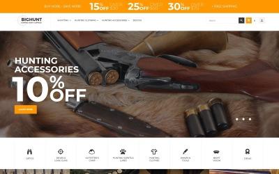 BigHunt - szablon sklepu z akcesoriami myśliwskimi Motyw Magento