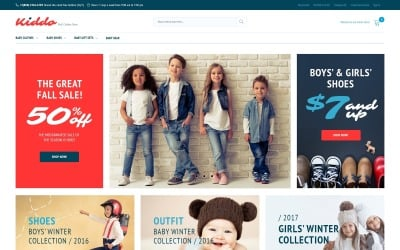 Kiddo - Kids Fashion Magento Theme