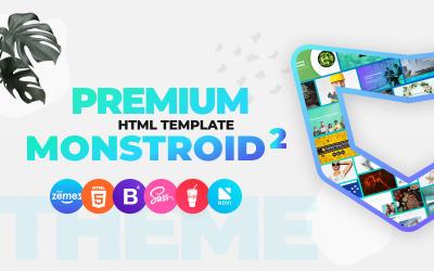 Monstroid2 - Modèle de site Web HTML5 Premium polyvalent