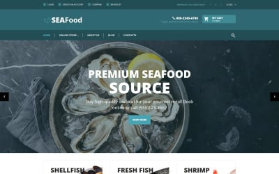 SeaFood - The Best Seafood Delicacies VirtueMart Template