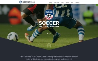 Soccer - Modèle Joomla réactif pour club de football