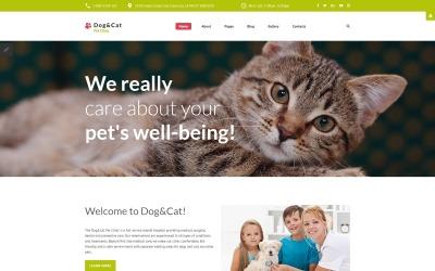 Kutya és macska - Kisállatklinika érzékeny Joomla sablon