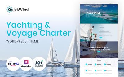 QuickWind - Tema WordPress Yacht Charter