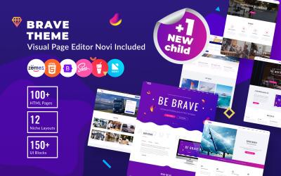 Brave Theme - Multifunctionele HTML-websitesjabloon