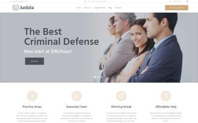 Justizia - Адаптивна тема WordPress для адвокатських послуг