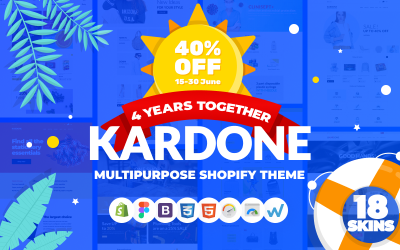 KarDone - тема Shopify для многоцелевого дизайна