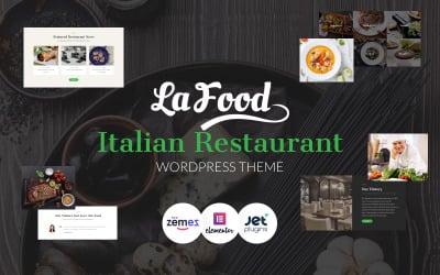 La Food - Duyarlı İtalyan Restoranı WordPress Teması