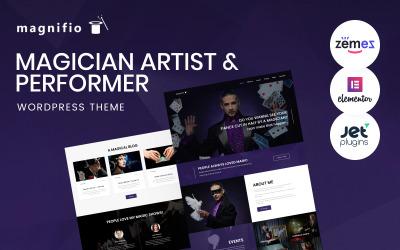 Magician Artist & Performer WordPress Theme - Magnifio WordPress Theme