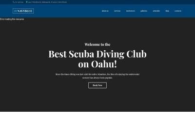 NavyBlue - Búvárklub érzékeny WordPress téma