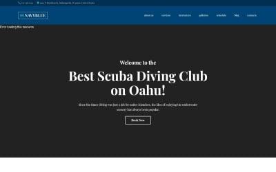 NavyBlue - Scuba Diving Club Responsive motyw WordPress