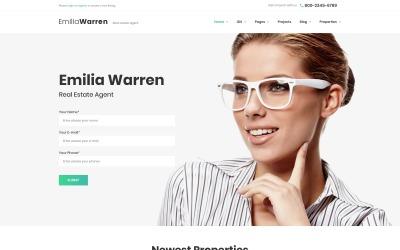 Емілія Уоррен - WordPress тема про нерухомість