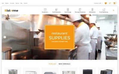 Restaurant Supplies VirtueMart Template
