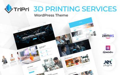TriPri - motyw WordPress dotyczący usług drukowania 3D