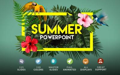 夏季  PowerPoint +奖金PowerPoint模板