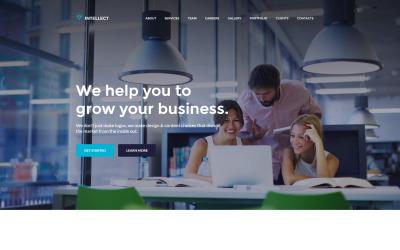 Intelecto - Modelo HTML do Business Moto CMS