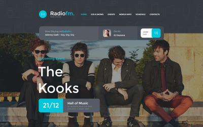 Radiowebbplats Moto CMS HTML-mall