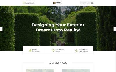 Clark Exterior Design Responsive Website Template