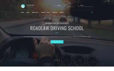RoadLaw - Driving School Responsive WordPress-thema