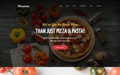 Vincenzo - Tema WordPress reattivo di Delicious Pizza Restaurant