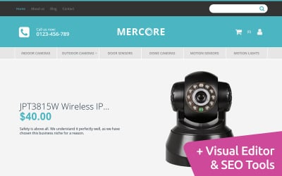 Mercore - Safety Equipment Store Responsive MotoCMS Ecommerce Template