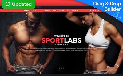 Modello di e-commerce MotoCMS per negozio di articoli sportivi