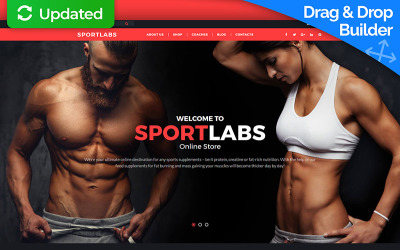Sports Store MotoCMS Ecommerce Template