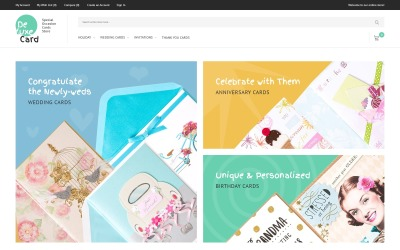 Deluxe Card - Special Occasion Cards Store Magento Theme