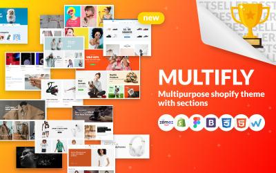 Multifly - víceúčelový internetový obchod Shopify Theme