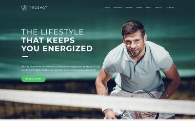 ProShot - Thème WordPress réactif pour les clubs de tennis