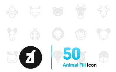 Animal Fill Icon Set