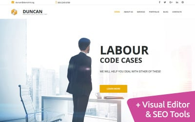 Law Firm Website Moto CMS 3 Template