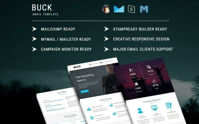 BUCK - Responsive Email Template Newsletter Template