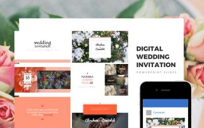 Цифрові весільні запрошення, весільні запрошення, весільний подарунок Шаблони презентацій PowerPoint