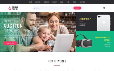Online Auction Multipage Website Template