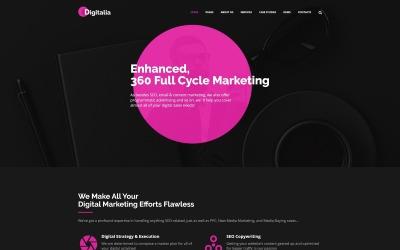 Digitalia - téma WordPress digitální agentury