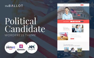 The Ballot - Political Candidate WordPress Theme