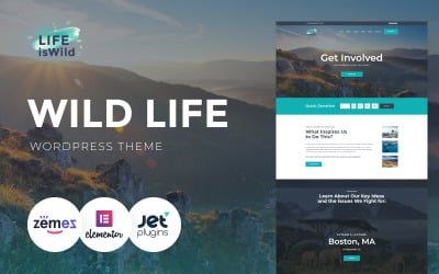 LifeisWild - Tema WordPress Wild Life