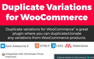 Duplicate Variation for WooCommerce WordPress Plugin