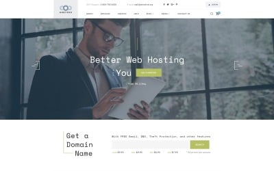 Hostpro - Domain and Hosting HTML Website Template