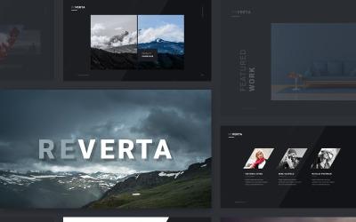 Reverta - шаблон Keynote